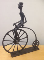 Bronze Sculpture Penny Farthing
