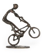 Bronze Sculpture BMX Rider